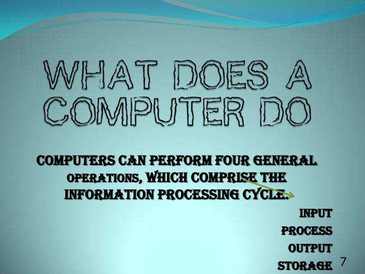General Information on Computers
