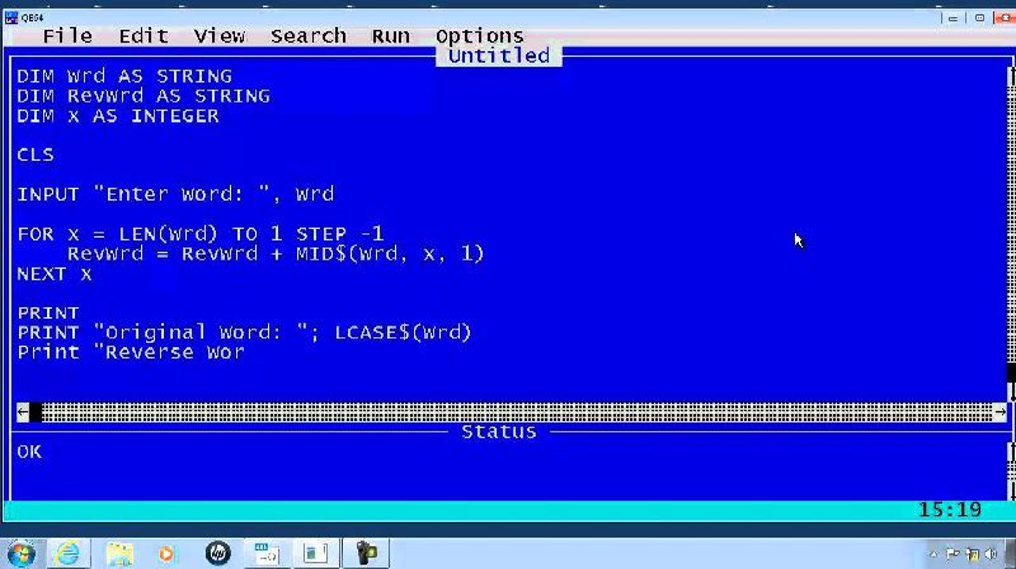 Programming in QBasic